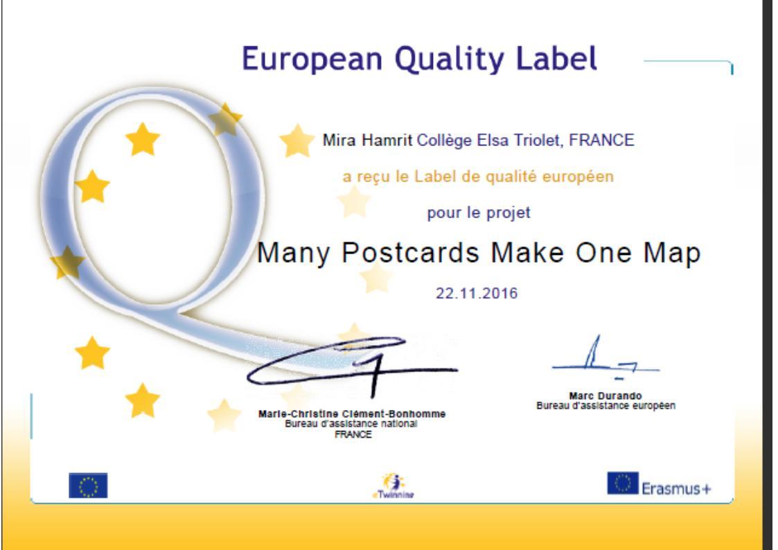 Europ label